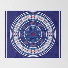 Bear Spirit (Blue) Throw Blanket