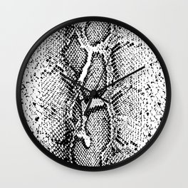 SNAKESKIN PYTHON BLACK AND WHITE Wall Clock