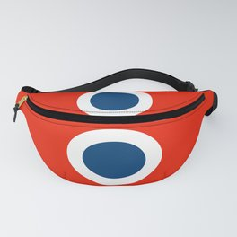 Retro Circles Pop Art - Red White Blue Series Fanny Pack