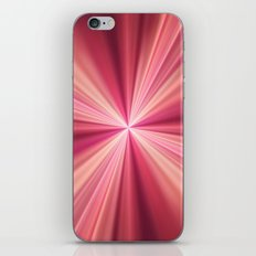 Pink Rays Abstract Fractal Art iPhone & iPod Skin
