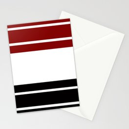 TEAM COLORS 9 .... Maroon, black and white Stationery Cards