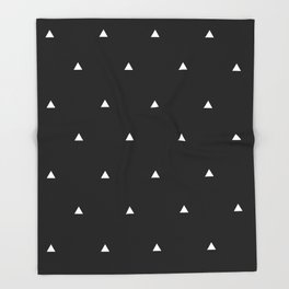 White and Black Triangles Throw Blanket
