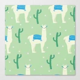 Llamas and llamas Canvas Print