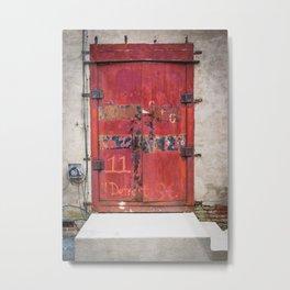 In the Door series, from my street photography/doors collection Metal Print