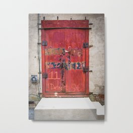 In the Door series, from my street photography/doors collection Metal Print