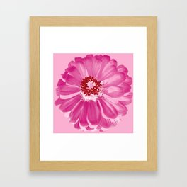 Abstract Photo Large Pink Flower Framed Art Print