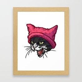 The Cat in the Hat (Black&White) Framed Art Print