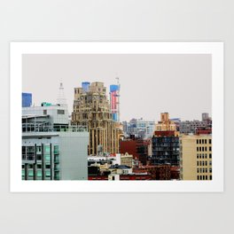 An abstract city, NYC Art Print