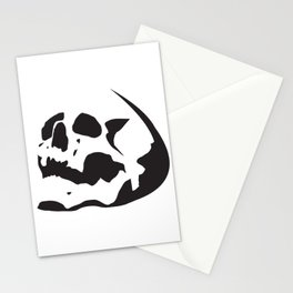 Skull Stencil Stationery Cards