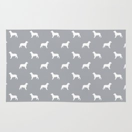 English Springer Spaniel dog breed pet art dog silhouette unique dog breeds grey and white Rug