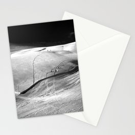 Glacier Skiing Stationery Cards
