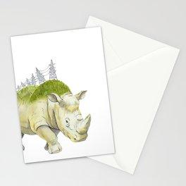 rhinoceros  Stationery Cards