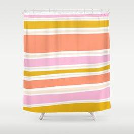 del mar, 70's stripes Shower Curtain