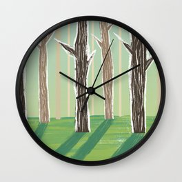 Forrest Shadows Wall Clock