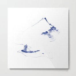 A Person in a Small Boat Metal Print