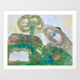 Burrow in Pa / Tinted Green Art Print