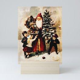 Father Christmas Arrives Mini Art Print