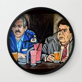 Cheers to Cliff and Norm Wall Clock