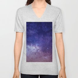STARS - NIGHT - GALAXY - PURPLE - PINK - INDIGO Unisex V-Neck