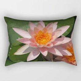 Beautiful Peach Waterlily Vector Rectangular Pillow
