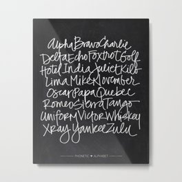 Chalkboard Art - Phonetic Alphabet Metal Print