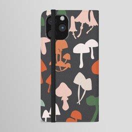 Mushroom Silhouette iPhone Wallet Case