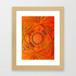 Looking Glass - Orange Framed Art Print