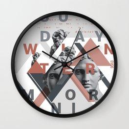 Sunday Winter Morning Wall Clock