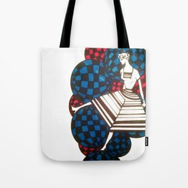 Woman with balls Tote Bag