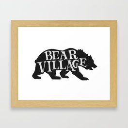 Bear Village - Grizzly Framed Art Print