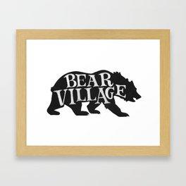 Bear Village - Grizzly Framed Art Print