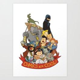 Comics are Cool! Art Print