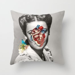 Less Thinking, more feeling Throw Pillow