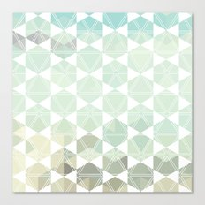 Geometric Sand & Sea Canvas Print