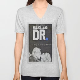MULHOLLAND DR. hand drawn movie poster in pencil Unisex V-Neck