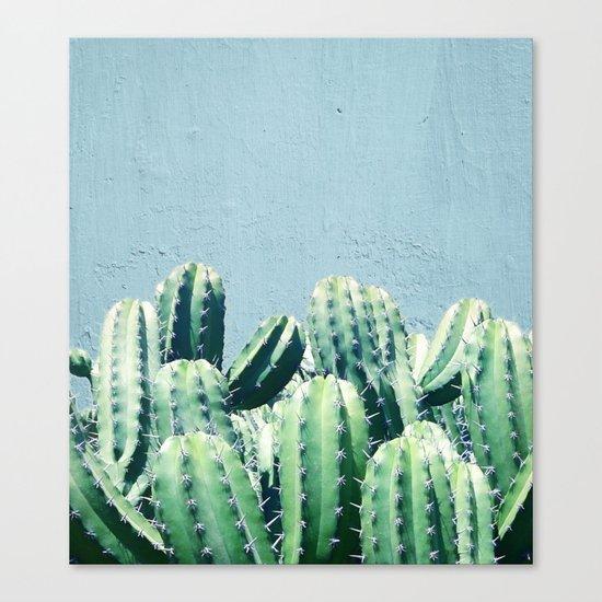 Cactus & Teal #society6 #decor #buyart Canvas Print