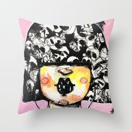 roses are black Throw Pillow
