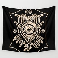 all seeing eye Wall Tapestries featuring All Seeing Eye by girlxboy