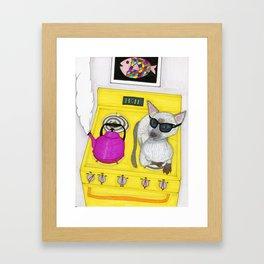 Blind Cat Framed Art Print