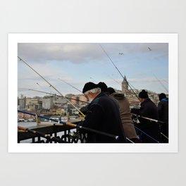 Fishing at Halic Art Print