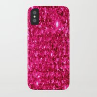 sparkle iPhone & iPod Cases featuring SparklE Hot Pink by 2sweet4words Designs