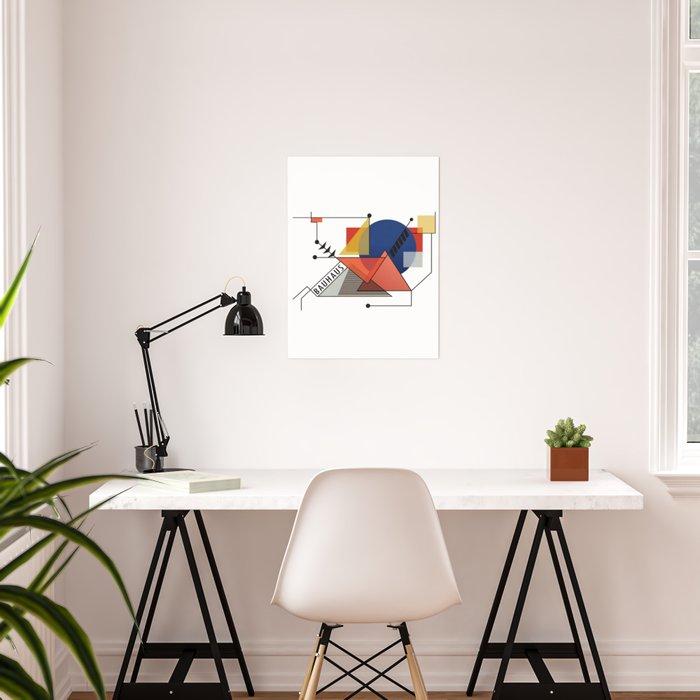 Bauhaus Art Deco Architecture Poster By Closeddoor