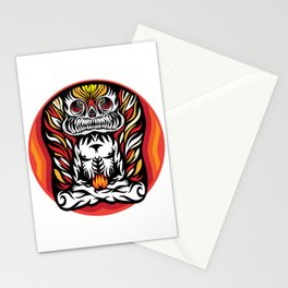 Illustration Demon in the lotus position Stationery Cards