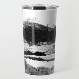 Snow on the hills Travel Mug