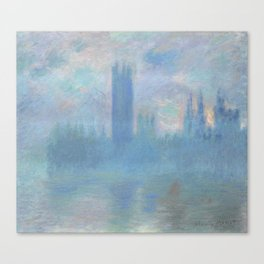Monet, The Houses of Parliament, London, 1900-1093 Canvas Print