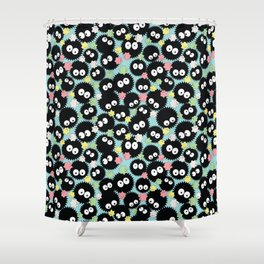 Pastel Soot Sprites with Konpeito Sugar Candy Shower Curtain