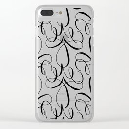 Curly Pattern 04 Clear iPhone Case