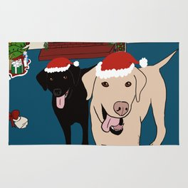 Labs Love Christmas! Rug
