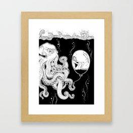 Octopus Gerahmter Kunstdruck