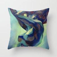 artgerm Throw Pillows featuring Pepper Motion by Artgerm™